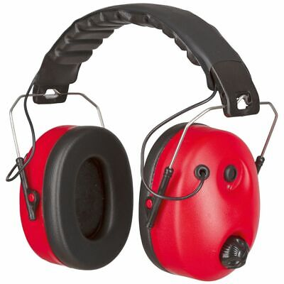 Kerbl Ear Protection Headphone Defender Noise-Cancelling Red and Black 34490