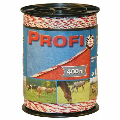 Kerbl Electric Fence Rope Profi PE 400 m Wire Cable String Cord Grazing 59512