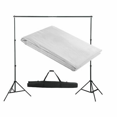 vidaXL Backdrop Support System 300x300cm White Photography Studio Background
