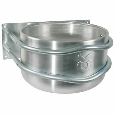 Kerbl Feed Bowl 18 L Aluminium Silver Animal Feeder Waterer Container 32495