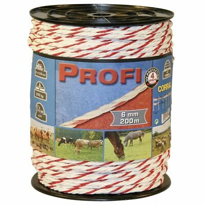 Kerbl Electric Fence Rope Profi PE 200 m Rotational Grazing Tape Animal 59509
