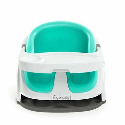 Ingenuity Baby Base 2-in-1 Booster Feeding Seat Ultramarine Green PVC K10870