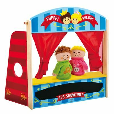 Hape Kids Children Baby Puppet Playhouse Playset Wooden Toy Theater E1044