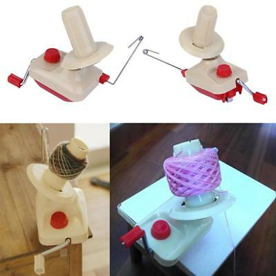 Hand Operated Knitting Roll String Yarn Fiber Wool Thread Ball Winder Holder GL