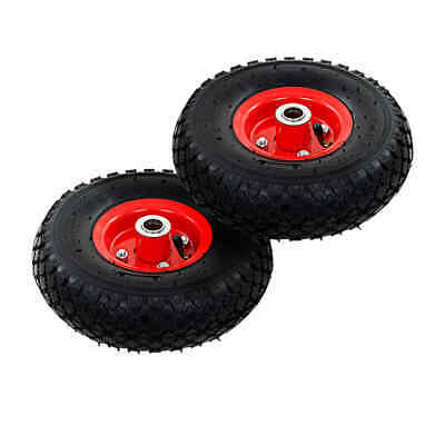 vidaXL 2x Sack Truck Wheels Rubber 3.00-4 (260x85) Cart Wagon Trolley Tyre