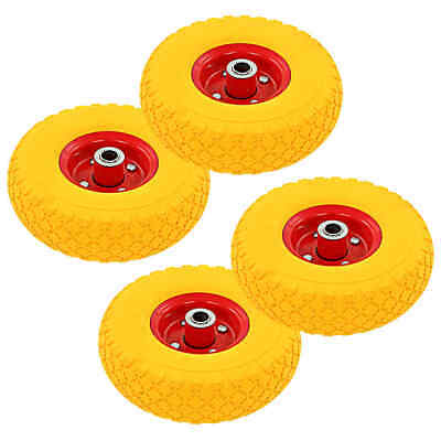 vidaXL 4x Sack Truck Wheels Rubber 3.00-4 (260x85) Cart Wagon Trolley Tyre