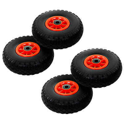 vidaXL 4x Sack Truck Wheels Solid PU 3.00-4 (260x85) Cart Wagon Trolley Tyre