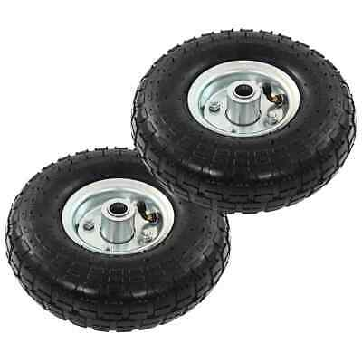 vidaXL 2x Sack Truck Wheel Rubber 4.10/3.50-4 (260x83) Cart Wagon Trolley Tyre