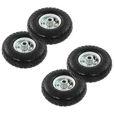 vidaXL 4x Sack Truck Wheel Rubber 4.10/3.50-4 (260x83) Cart Wagon Trolley Tyre