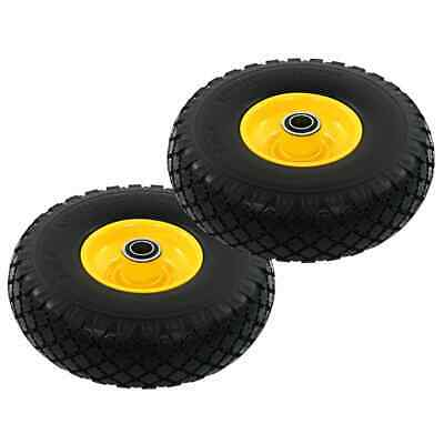 vidaXL 2x Sack Truck Wheels Solid PU 3.00-4 (260x85) Cart Wagon Trolley Tyre
