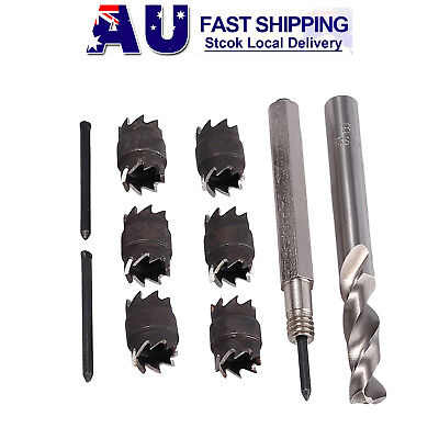 10pcs Cutter 3/8'' Double Sided Rotary Spot Weld Remover Drill Bits Cut Weld