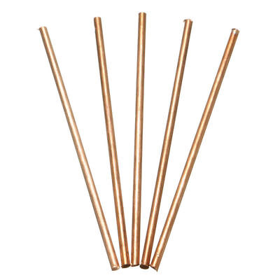 5Pcs Copper Round Bar Rod Milling Welding Metalworking 3mm Dia. x 100mm Length