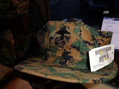 03ccbe4960a 8 Point Usmc Cover Hat Digital Woodland Marpat Sekri Size Small New W Tag