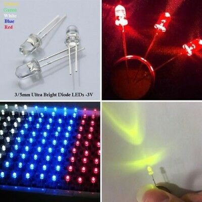 3mm/5mm Ampoules Led Ultra Lumineux Leds 3v puissance Diode Électroluminescente