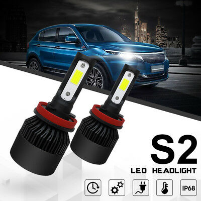 2X H7 White CAR LED Headlight Kit 200W 20000LM Hi or Low Beam Bulb Xenon 6000K Z