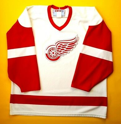 4.9/5 Detroit Red Wings hockey jersey size XL CCM ig93