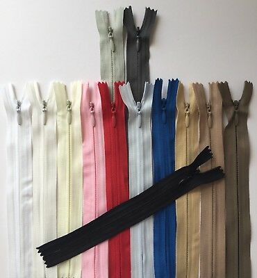 Invisible zips (6,8,10,12,14..24inch) BUY 2 GET 1 FREE,Concealed,Woven,Close-end