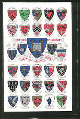 AK Arms of the Colleges of Oxford, Studentenwappen der Universität Oxford, Linc