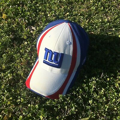 0b9da0f1f NFL New York Giants Football Adjustable Cap Hat Blue Reebok with Sticker NY