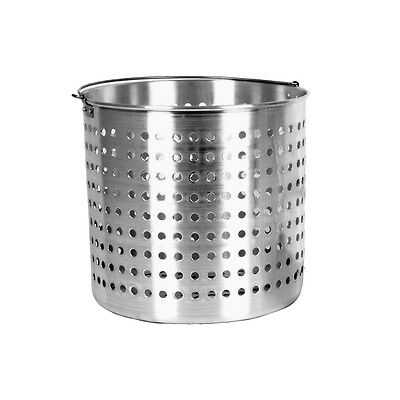 1 Piece Aluminum Steam Basket 32QT Commercial 32 QT NSF ALSKBK005