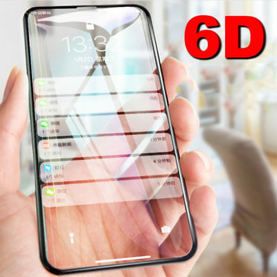 6D Curved Full Coverage Tempered Glass Screen Protector For iPhone X 8 7 Plus