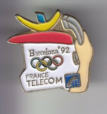 Rare Pins Pin's .. Ptt Poste France Telecom Olympique Olympic Barcelone 1992 ~D2
