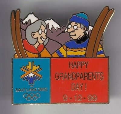 Rare Pins Pin's .. Olympique Olympic Salt Lake City Happy Grandparents Day ~18