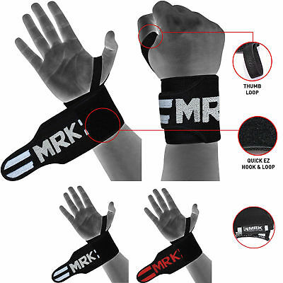 RDX Weight Lifting Straps Wrist Wraps Training Bodybuilding Gym Gloves Support