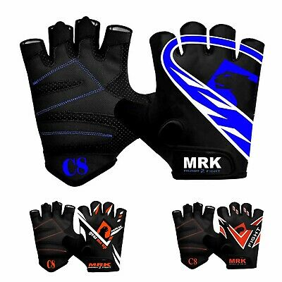 RDX Weight Lifting Gym Gloves Training Workout Bodybuilding Fitness Straps Grips