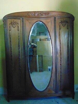 FRENCH ART DECO style Carved Armoire C1920