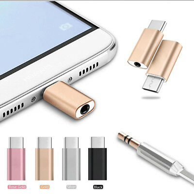 Metal Type-C To 3.5mm AUX Jack Earphone USB-C Headphone Audio Adapter Converter