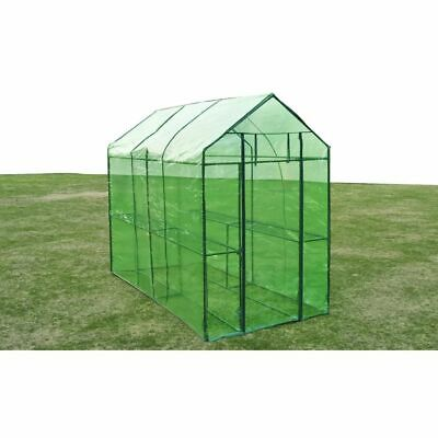 vidaXL Greenhouse Steel XL PVC Cover Garden Green Shade Plant House Storage