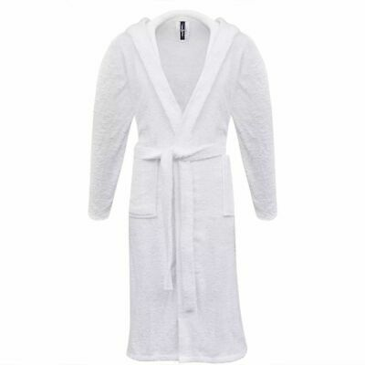 vidaXL 500 g/m² Unisex Terry Bathrobe 100% Cotton White M Home Dressing Gown