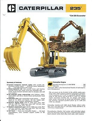Equipment Brochure - Caterpillar - 235 - Excavator - c1975/77 - 2 items (E4875)