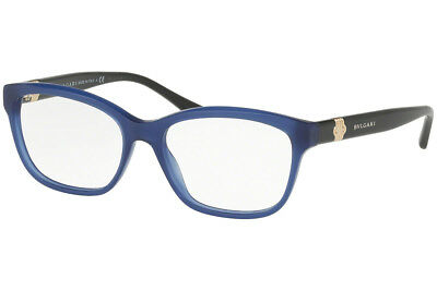 e25be5d67b New Bvlgari BV4115 5145 RX Prescription Eyeglass Frames Blue Black 54mm  Italy
