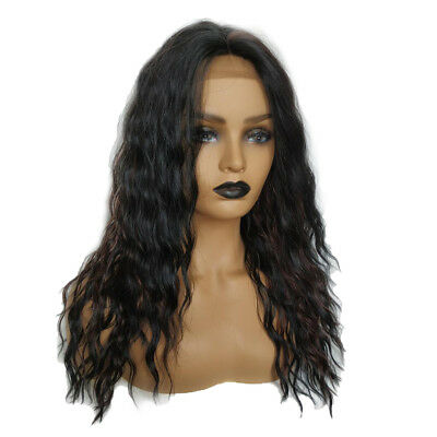 MagiDeal Fashion Long Wave Wig Lace Front Wig Fideos instantáneos Peluca de