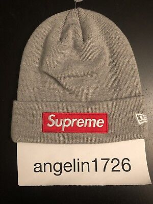 ee15709c621e2 Supreme x New Era Box Logo Beanie Red World Famous FW15 Christmas gift