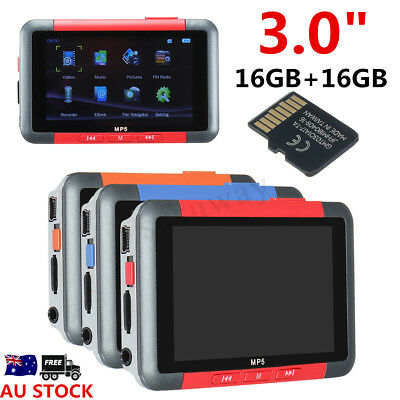 3.0'' 32GB LCD Screen Video Music FM MP3 MP5 MP4 Player Voice Recorder With Mic