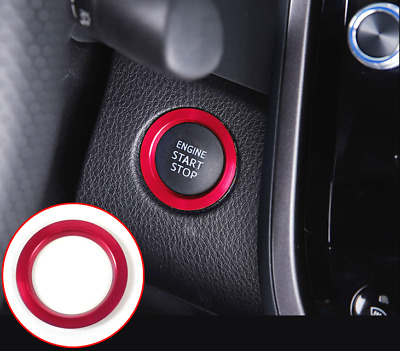 ENGINE START STOP Push Button Knob decor ring trim blue for Toyota