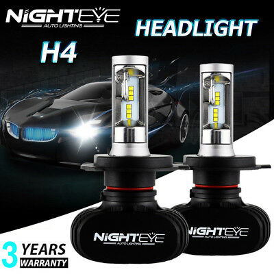 NIGHTEYE H4 HB2 9003 LED Headlight Kit Bulb High Low Beam Light Lamp 50W 8000LM