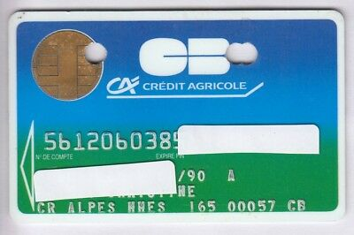 Carte / Card Banque Bank Credit .. Ancienne Old Cb Perimee Cp8 Bull 90 Chip/puce