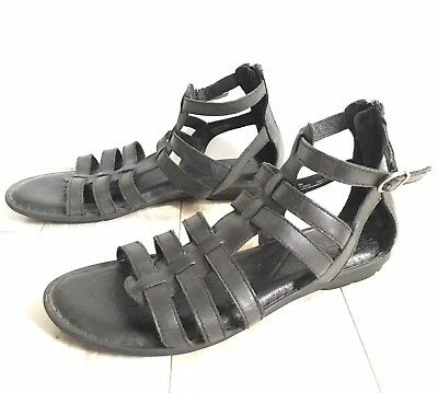 a1af60c9e102 BORN TRIPOLI BLACK Leather Gladiator Sandals Women s Size 9M -  20.00