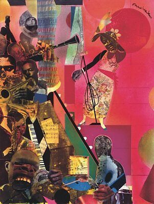 The Blues, 1974 by Romare Bearden Art Print Jazz Music Museum Poster 11x14