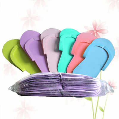 36 Pairs Disposable Flip Flops Foam Pedicure Tanning Spa Slippers Foot Nails
