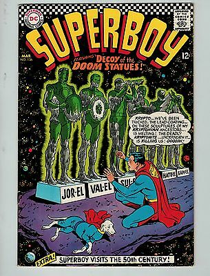 Superboy #136 (Mar 1967, DC)! FN6.5+ Silver age DC beauty! WORTH A LOOK!