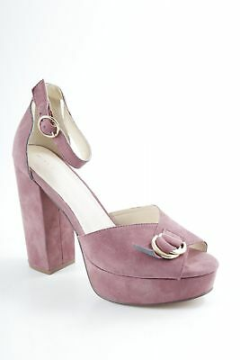 6efec05940688d MINT BERRY High Heel Sandaletten hellbraun Casual-Look Damen Gr. DE 39