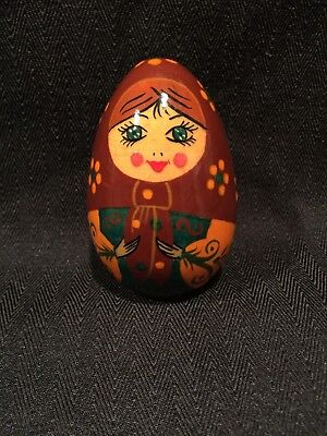 Russian Icon Hand Painted Egg Nesting Dolls Matryoshka Made in Russia