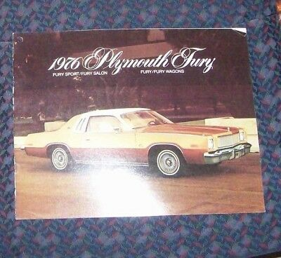 1976 Plymouth Fury Sales Brochure