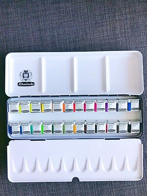 Schmincke Akademie Aquarell Watercolour Set - 24 Half Pans