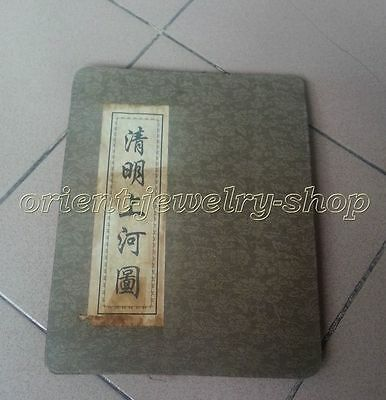 china Unique Handwork Painting Archaic books scroll Old silk cloth draw 75inch